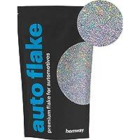 Purpurina metálica Hemway para agregar a pintura líquida o en aerosol para vehículos, bicicletas, camionetas, camiones, tráileres, etc. (100g)