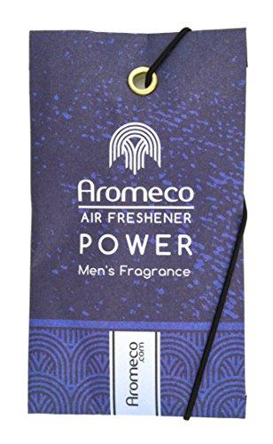 Paquete de 3 ambientadores en sobre Aromeco Power para coche, armario, zapatero, cuarto de baño, etc., fragancia masculina