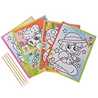 naty Magic Kids Rainbow Scratch Art Painting Book Scratching Paper EducationToys