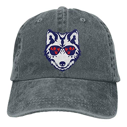 Hoswee Unisex Kappe/Baseballkappe, Cool Wolf Sunglasses Cowboy Baseball Cap for Womens Mens Trucker Style Hats C5