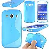 ebestStar - Compatibile Cover Samsung Ace 4 Galaxy SM-G357FZ Custodia Protezione S-Line Design Silicone Gel TPU Morbida e Sottile, Blu [Apparecchio: 121.4 x 62.9 x 10.8mm, 4.0'']