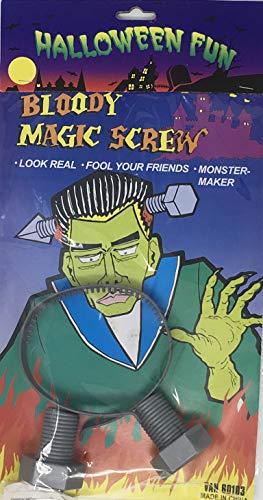 YLAB - Frankenstein Schraube durch Kopf oder Halloween Kostüm Zubehör