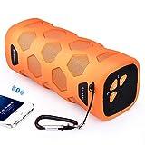 YMXLJJ Altavoz Bluetooth Al Aire Libre Portátil 10W Doble Unidad HD Audio Subwoofer 4000Mah Móvil Poder Teléfono Manos Libres Llamada 10 Horas Tiempo De Reproducción,Orange