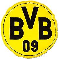 Borussia Dortmund BVB Kissen rund mit Emblem Polyester Schwarz/Gelb 42 x 42 x 5 cm