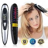 Traitement au laser Peigne de massage électrique avec lumière infrarouge et thérapie par vibrations.Stoppe la perte de cheveux, encourage la repousse, l'épaississement et le renforcement des cheveux.