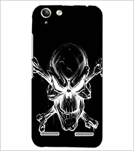 PrintDhaba Skull D-2343 Back Case Cover for LENOVO A6020a46 (Multi-Coloured)