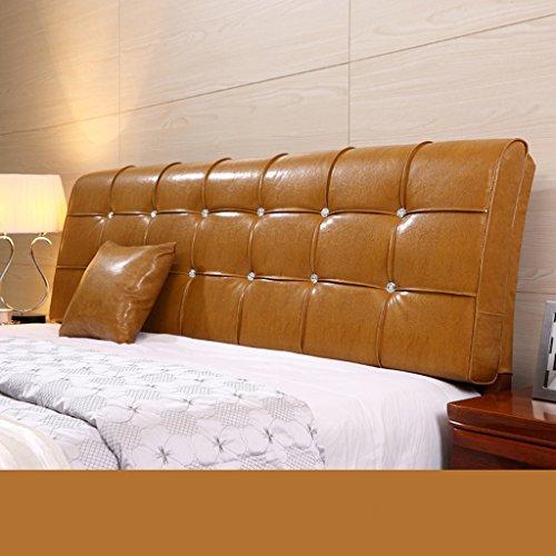 Dossier De Chevet Coussin en cuir en coton Coussin double oreiller grand oreiller épaule protecteur ergonomique pour design Pure Color Lumbar Support 58 * 180cm (Couleur : H)
