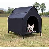 AmazonBasics Elevated Portable Pet House - Small, Black