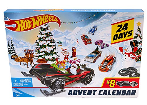 Hot Wheels FYN46 Christmas Advent Calendar 2019, Cars and Accessories