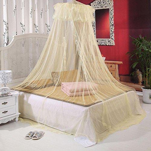 Alger Kescher Decke Erhöhung Verschlüsselung Kuppeldecke Netze Spitze - rosa, beige, lila -2M hoch, beige, 1.5 m Peach powder explosion-proof tube