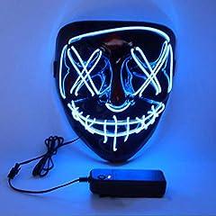 Idea Regalo - Charlemain Halloween LED Maschere, LED Mask Maschere Halloween, per Halloween Cosplay Feste del Partito Halloween Costume