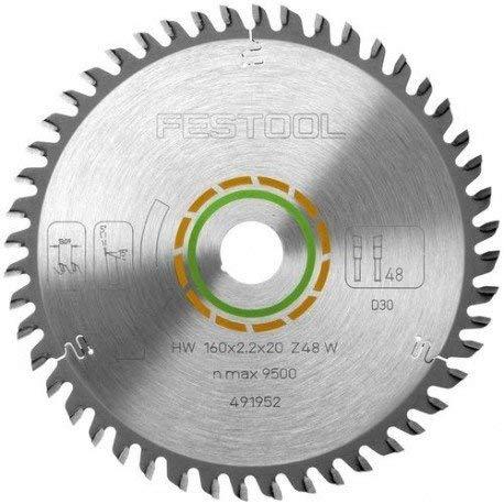 Festool 491952Feinzahn-Klinge für Tauchsäge TS55R (48Zahn) * Twin Pack *