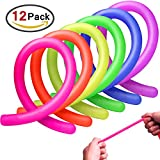 Homder 12 Pack Colorful Sensory Fidget Stretch Toys Helps Reduce Fidgeting Due To Stress And Anxiety For ADD