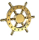 #10: High Quality Metal Fidget Spinners (Gold Ship Wheel)