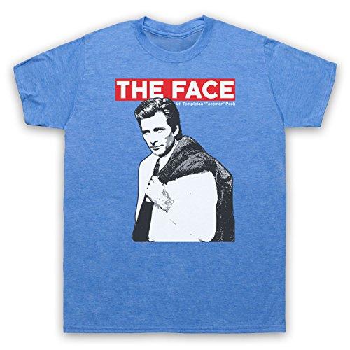 Inspiriert durch A Team Face LT Templeton Faceman Peck Unofficial Herren T-Shirt Jahrgang Blau