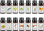 Bisofice 14 Bottles Essential Oils Gift Set Pure Essential Oils for Diffuser Humidifier Massage Aromatherapy R