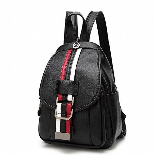 Weibliche Brust Tasche Mode Weichen Leder Schulter Tasche Rucksack Freizeit Reise Multifunktions Dual - Use - Paket Rot Und Weiß