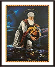 Shyam Framing Art Guru Nanak Dev Ji|Gurunanak Sikh Religious Framed Photo Frames |Exclusive with Matte Finishe