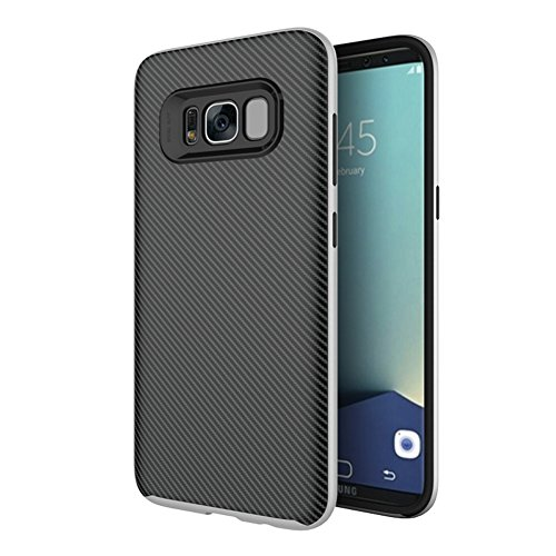 ArktisPro Samsung Galaxy S8 Though Carbon Case silber