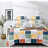 Home Designs Glace Cotton Double Bed Duvet Cover Set- (Size – 90x100 INCHES) Color-1