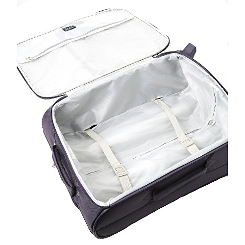 Aerolite 55x40x20cm Ryanair Maximum Allowance 42L Lightweight Travel Carry On Hand Cabin Luggage Suitcase with 2 Wheels – Also Approved for Easyjet, British Airways. (2 x Suitcase Only, Plum)
