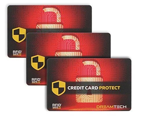 3 x Tarjetas Bloqueo DreamTECH RFID & NFC: Seguridad