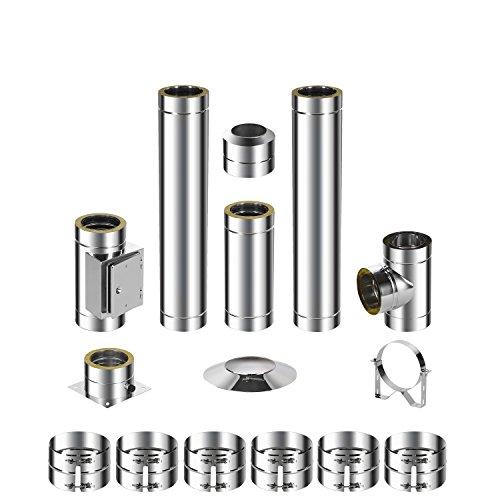 ADT acier inoxydable Cheminée Kit DW 1503,7m 0,6