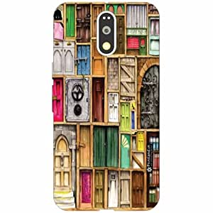 Motorola Moto G4 Plus Back Cover - Silicon Library Designer Cases