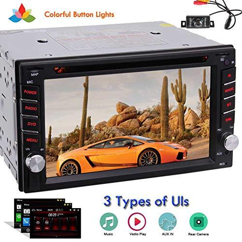 EINCAR Doppel Din im Schlag-Auto Stereo In Dash Car Audio Video 6.2-Zoll-HD-Multi-Touch-Screen-Auto-DVD-Spieler AM/FM Autoradio Unterstützung Bluetooth / 1080P / Lenkradsteuerung/Cam-in + Fernbed