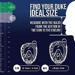 Cressi Duke Masque de Plongée Integral Mixte Adulte, Transparent/Jaune, S/M