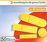 50x PFLASTER Set in 4 Größen XXL Familienpackung mit Antihaft-Polster Pflasterset Wundpflaster 27