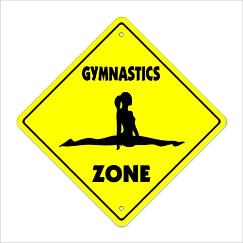 SignMission Gymnastik Crossing Sign Zone Xing |-| 43,2 cm Hoch Sport Gym Award Trophy Team Funny Gag Gym