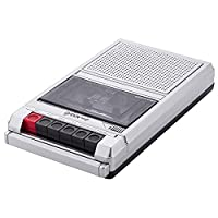 Groov-e Retro Series Shoebox Cassette Player and Recorder - Silver