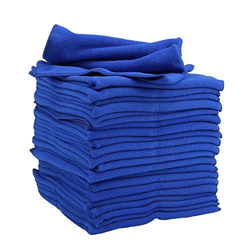 MultiWare 20 x Mikrofaser Tücher Tuch Mikrofasertücher Spültuch Microfaser Blau 40 x 40cm