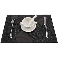 FENG Set de table 4 pièces, Protection de l'environnement matériau PVC , résistant à l'usure, lavable, résistant à la chaleur, antidérapant, imperméable, facile à ranger, 30 × 45CM, haute qualité