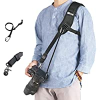 WITHLIN Camera Strap with Safety Tether for Camera SLR DSLR (Canon Nikon Sony Olympus Pentax,etc)