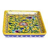 #4: Om Craft Villa Blue Pottery Decorative Tray (6 Inch)