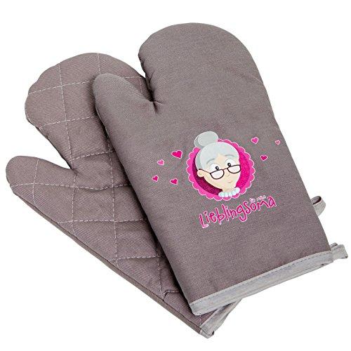 Oma noël cadeau d'anniversaire ou **oma gant gant gant set de 2 pièces)-gant imprimé gris et rose pour mes lieblingsoma-idéal pour cadeau de grand-mère : vamundo figurine humoristique myOma de gant par  MyOma
