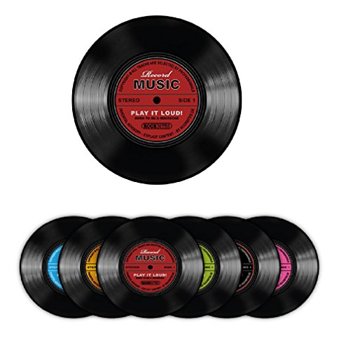Rockbites - Untersetzer 6er Set, Motiv wählbar (Record Music - Set)