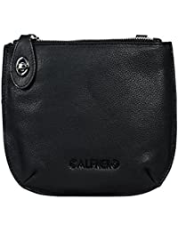 Women's Genuine Leather Sling Bag-Women's Casual College, Office Bag-Women's Black Cross Body Sling Bag By Calfnero