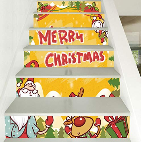 Wangxuan6 Treppenaufkleberausgangsdekorbaumvinyl Des Alten Mannes Selbstklebendes Schrittwandgemälde Des Wohnzimmers 3D