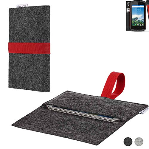 flat.design Handy Hülle Aveiro für Crosscall Trekker-M1 Core passgenaue Filz Tasche Case Sleeve Made in Germany