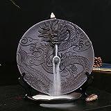 Ceramica porta incenso incenso Censer antiritorno, con pezzi di legno di sandalo incenso Dragon