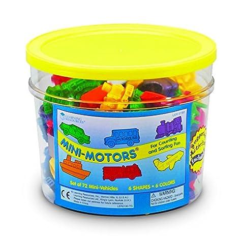 Learning Resources Engins À Compter Mini Motors De (Jeu De 72) -