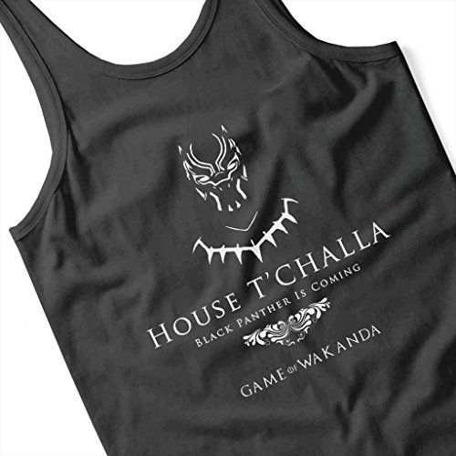 Black Panther Game Of Thrones House Mix Women's Vest Black