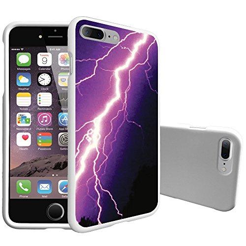 Süße iPhone 7Plus & iPhone 8Plus Slim Case von miniturtle [Kundenspezifische Designs] [2Teilige Schutzhülle Zum Aufstecken für iPhone 7+], Purple Lightning Bolt