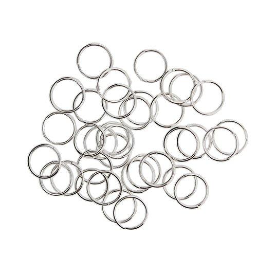 Kurtzy Ouvrir Anneaux 700 7mm par En acier inoxydable de saut anneaux pour lampes en cristal, Colliers, Porte-clés, Boucles d'oreilles, fabrication de bijoux et idées artisanales