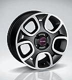 Fiat New Panda 15'' Leichtmetallfelgen / Alufelgen / Satz Felgen - Felgensatz mit Nabendeckel Rosso Vivace