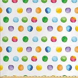 ABAKUHAUS Acuarela Tela por Metro, Resumen De Los Lunares, Decorativa para Tapicería y Textiles del Hogar, 1M (160x100cm), Multicolor