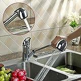 Küchenarmatur herausziehbarer Geschirrbrause 2 Strahlarten Hochdruck Schwenkbereich aus Messing verchromt Armatur Spüle